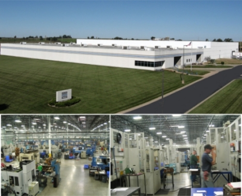 Bodine Electric Plant in Peosta, Iowa (USA) -- CNC production cells