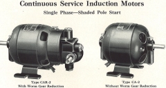 Early Bodine Electric Motor and Gearmotor