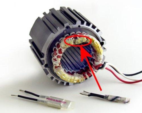 Bodine AC motor stator with OVLP