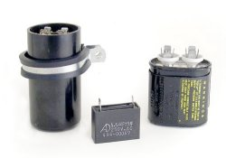 Motor Run Capacitors from Bodine Electric (Electrolytic, Film, Oil-Type)
