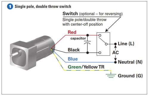 Example 1- How to connect the single pole, double throw switch
