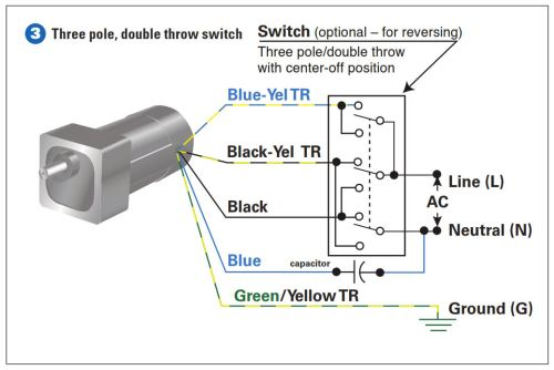 How to connect a reversing switch or wire psc