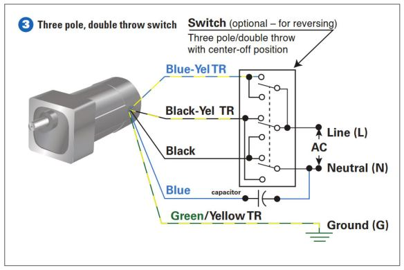 How To Connect a Reversing Switch to a 3- or 4-Wire (PSC ... Dc Reversible Electric Motor Wiring Diagram on