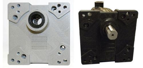 Bodine 3D printed Gearmotor face-mount plate
