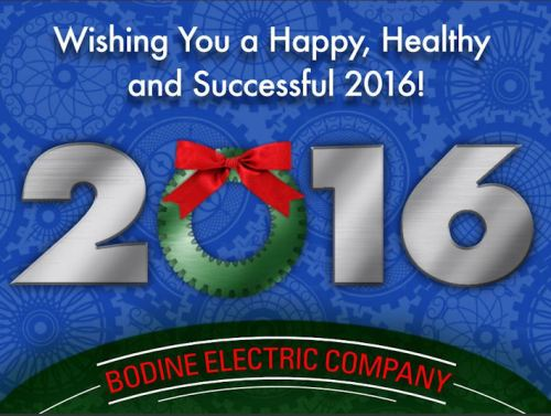 Bodine Electric Co. Gearmotor Holiday Greetings 2015-2015
