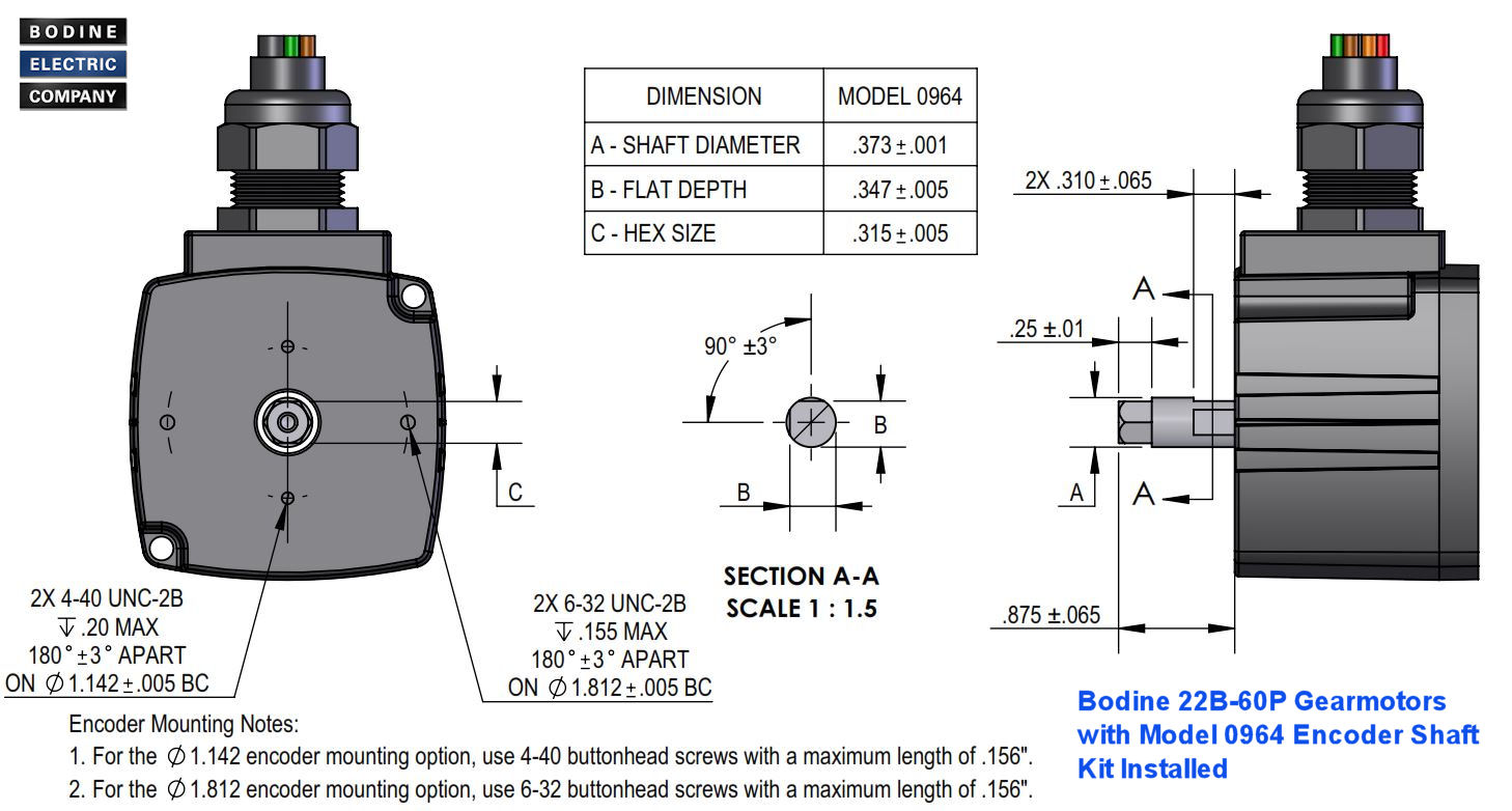 Bodine Electric Gearmotor Blog Application Tips And Product Motor Winding Diagram Further Wiring Encoder Mounting Details